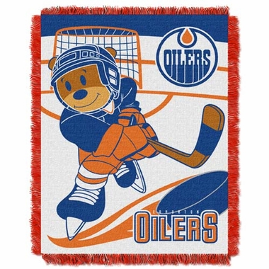 Edmonton Oilers Jacquard BABY Throw Blanket