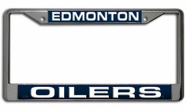 Edmonton Oilers Laser Etched Chrome License Plate Frame