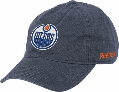 Edmonton Oilers Logo Team Slouch Adjustable Hat