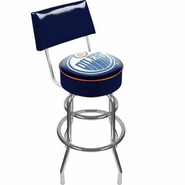 Edmonton Oilers Padded Bar Stool with Back