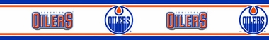 Edmonton Oilers Peel and Stick Wallpaper Border