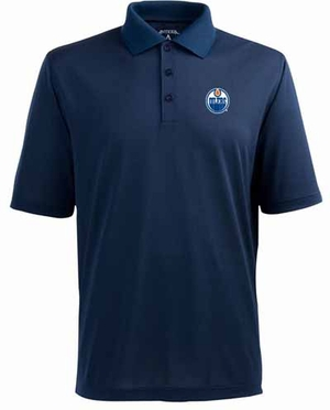 Edmonton Oilers Mens Pique Xtra Lite Polo Shirt (Team Color: Navy)