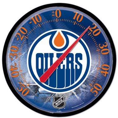 Edmonton Oilers Round Wall Thermometer