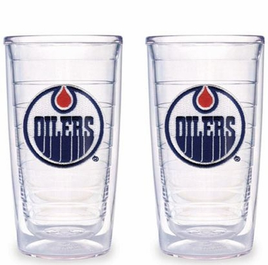 Edmonton Oilers Set of TWO 16 oz. Tervis Tumblers