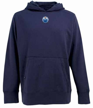 Edmonton Oilers Mens Signature Hooded Sweatshirt (Team Color: Navy)