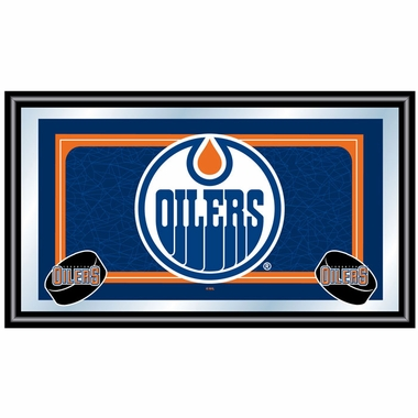 Edmonton Oilers Team Logo Bar Mirror