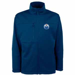 Edmonton Oilers Mens Traverse Jacket (Color: Navy) - X-Large