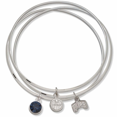 Edmonton Oilers Triple Bangle Bracelet