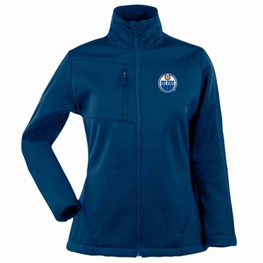 Edmonton Oilers Womens Traverse Jacket (Color: Royal)