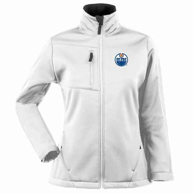 Edmonton Oilers Womens Traverse Jacket (Color: White)