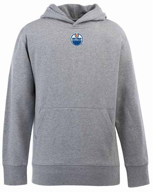 Edmonton Oilers YOUTH Boys Signature Hooded Sweatshirt (Color: Gray)