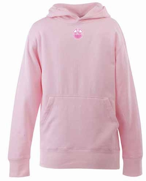 Edmonton Oilers YOUTH Girls Signature Hooded Sweatshirt (Color: Pink)