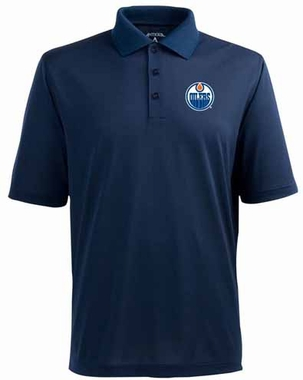 Edmonton Oilers YOUTH Unisex Pique Polo Shirt (Team Color: Navy)