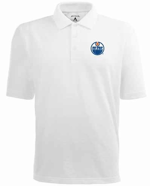 Edmonton Oilers YOUTH Unisex Pique Polo Shirt (Color: White)
