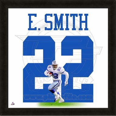 "Emmitt Smith, Cowboys UNIFRAME 20"" x 20"""