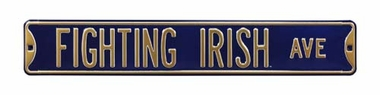 Fighting Irish Ave Street Sign