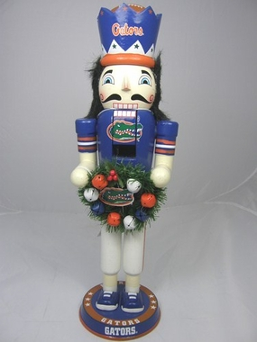 Florida 14 Inch Wreath Nutcracker Figurine