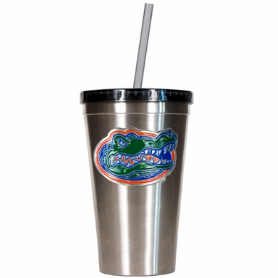 Florida 16oz Stainless Steel Insulated Tumbler with Straw