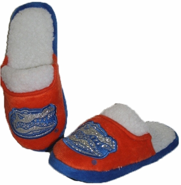 Florida 2012 Womens Team Color Sherpa Glitter Slippers