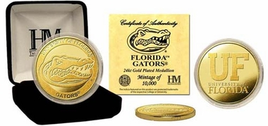 Florida Gators University of Florida 24KT Gold Coin