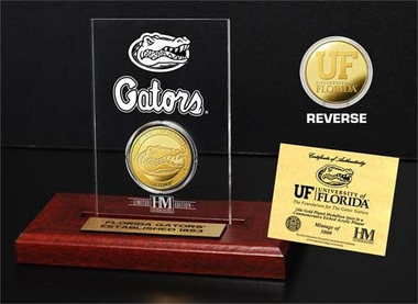 Florida Gators University of Florida 24KT Gold Coin Etched Acrylic