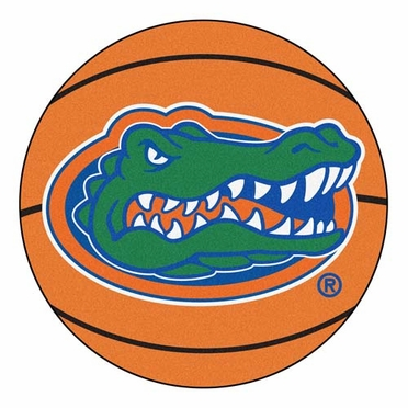Florida Basketball Shaped Rug