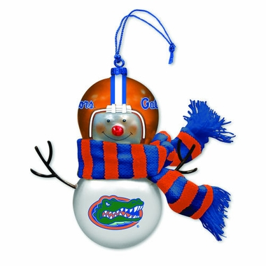 Florida Blown Glass Snowman Ornament (Set of 2)