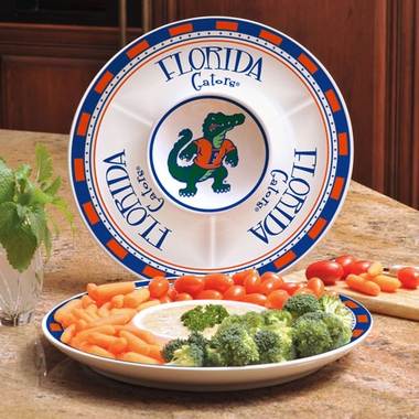Florida Ceramic Chip and Dip Plate