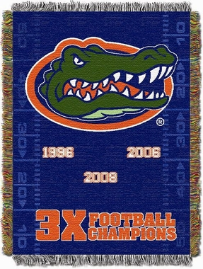 Florida Commerative Jacquard Woven Blanket