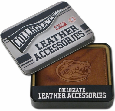 Florida Embossed Leather Bifold Wallet