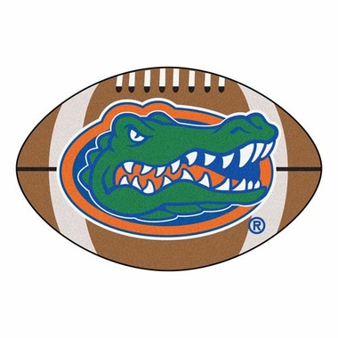 Florida Football Shaped Rug