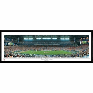 Florida Game Of Their Century Framed Panoramic Print