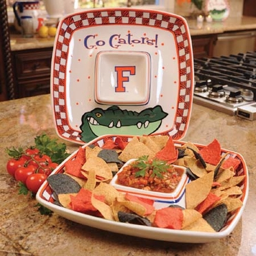 Florida Gameday Ceramic Chip and Dip Platter