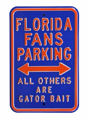 Florida/Gator Bait Parking Sign