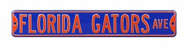 Florida Gators Ave Blue Street Sign