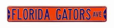 Florida Gators Ave Orange Street Sign
