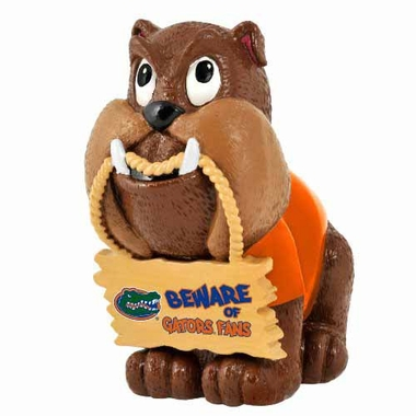 Florida Gators Bulldog Holding Sign Figurine