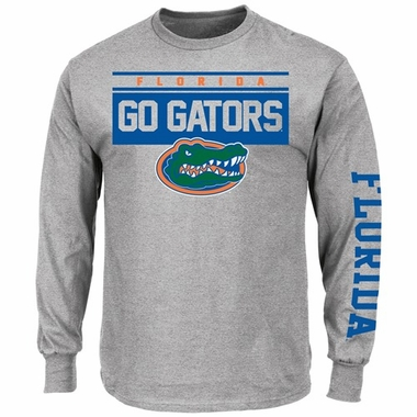 "Florida Gators Majestic ""Breathe Victory"" Long Sleeve T-Shirt - Gray"