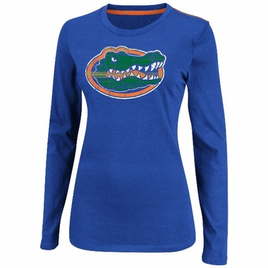 "Florida Gators Women's Majestic ""State Colors"" Long Sleeve Shirt"