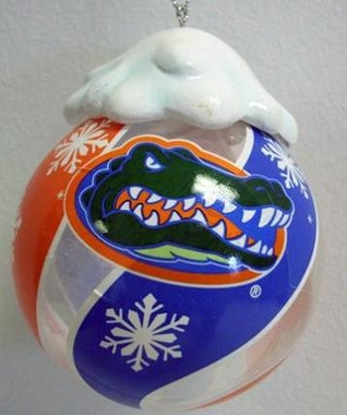 Florida Light Up Glass Ball Ornament