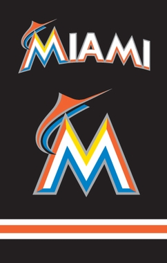 Miami Marlins Applique Banner Flag