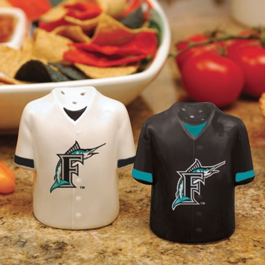 Florida Marlins Ceramic Jersey Salt and Pepper Shakers