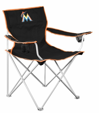 Miami Marlins Deluxe Adult Folding Logo Chair