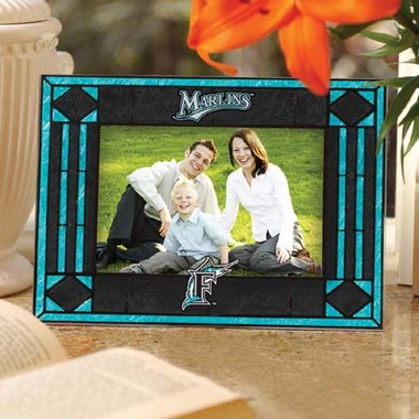 Florida Marlins Landscape Art Glass Picture Frame