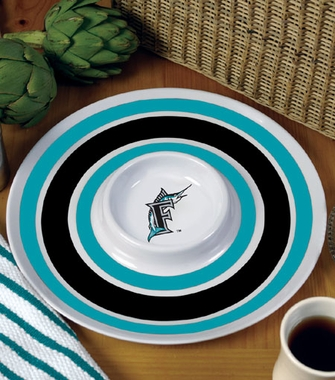 Florida Marlins Plastic Chip and Dip Plate