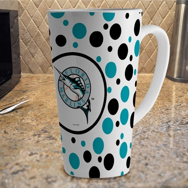 Florida Marlins Polkadot 16 oz. Ceramic Latte Mug