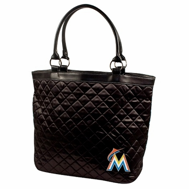 Miami Marlins Quilted Tote
