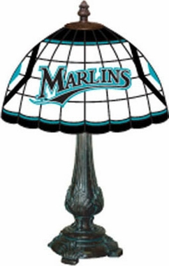 Florida Marlins Stained Glass Table Lamp