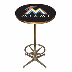 Miami Marlins Team Pub Table