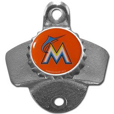 Miami Marlins Wall Mount Bottle Opener